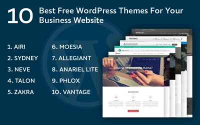 10 Best Free WordPress Themes For Your Business Website